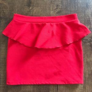 Hot Red Mini Skirt 💋